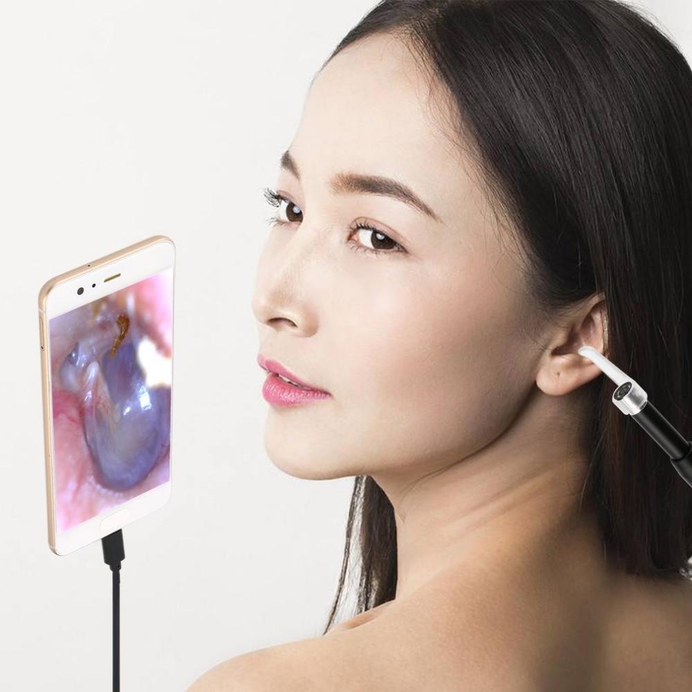 F170 Wireless WiFi Ear Cleaner Earpick Endoscope 5.5mm Lens Otoscope Earwax Cleaning Spoon Remover for Smartphone PCF170 Wireless WiFi Ear Cleaner Earpick Endoscope 5.5mm Lens Otoscope Earwax Cleaning Spoon Remover for Smartphone PC