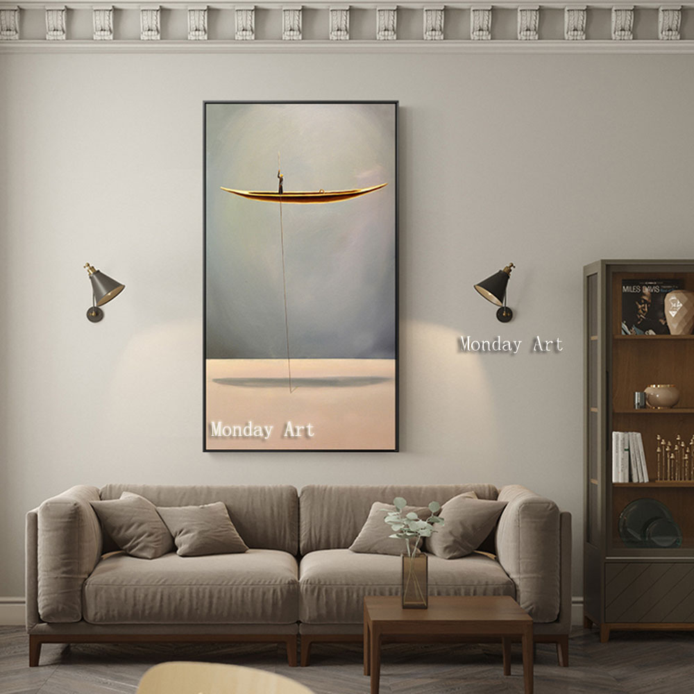 New-Chinese-Style-Golden-Boat-Natural-Landscape-Creative-Canvas-Paintings-Wall-Art-Pictures-For-Living-Room (1)