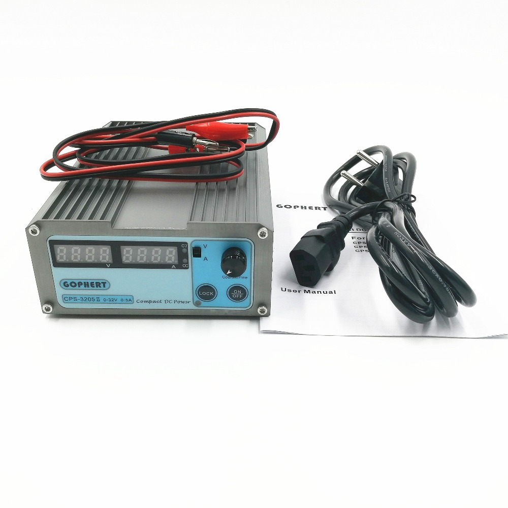 110Vac/ 220Vac  CPS-3205 3205II  Mini Adjustable Digital DC Power Supply OVP/OCP/OTP 0.001A 0.01V 160W
