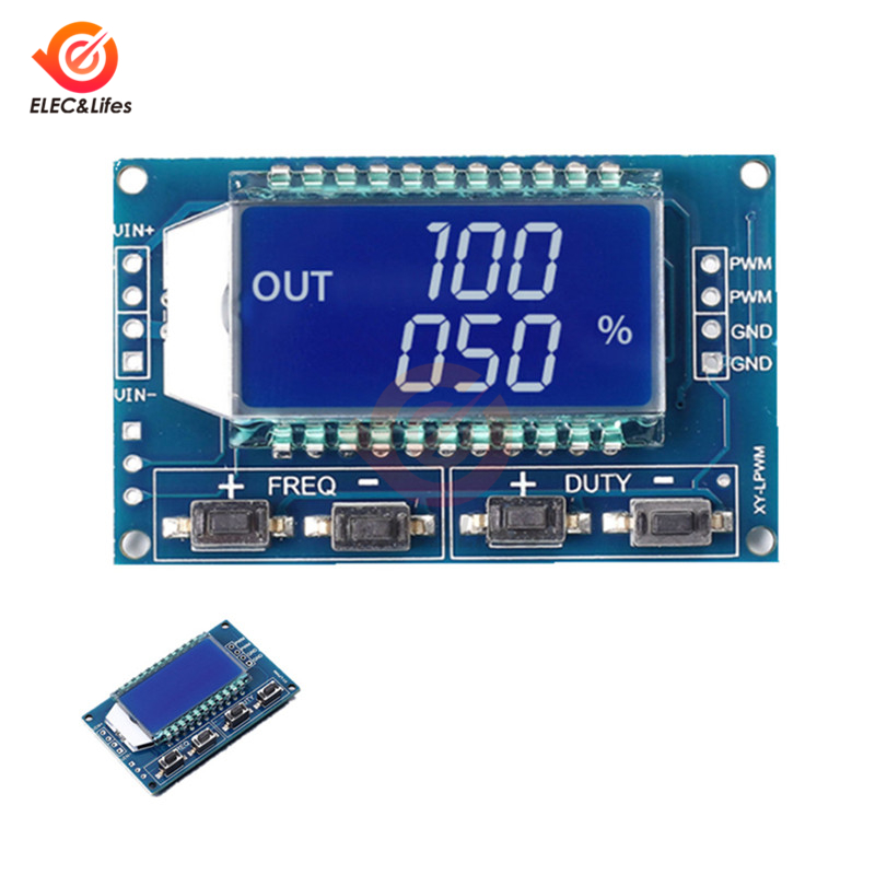 1 Kanal Digital Signal Generator Pwm Pulse Frequenz Duty Zyklus Einstellbare Module Lcd Display 1hz-150 Khz 3,3 V-30 V Pwm Bord