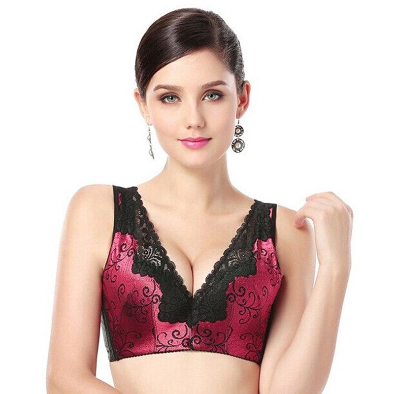 Grande taille sans fil soutien-gorge Sexy Lingerie dentelle Bralette femmes soutien-gorge Push Up haut court sans fil sans couture Bras pour les femmes