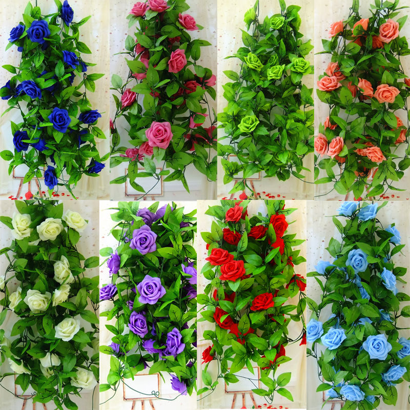 online buy wholesale silk floral garland from china silk floral garland wholesalers. Black Bedroom Furniture Sets. Home Design Ideas