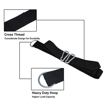 200kg Load Hammock Strap Rope With Metal S Hook Or Carabiner Hammock Hanging Belt 3m Bind Rope With Carrry Bag