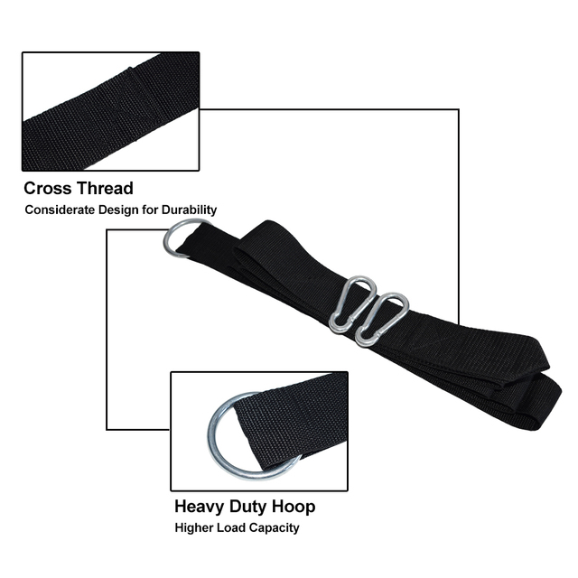 200kg Load Hammock Strap Rope With Metal S Hook Or Carabiner Hammock Hanging Belt 3m Bind Rope With Carrry Bag