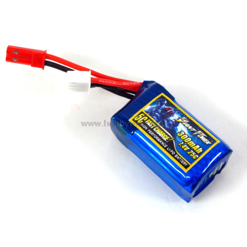 7.4V <font><b>2S</b></font> <font><b>300mAh</b></font> 25C <font><b>LiPO</b></font> Battery Ultralight 4cm wire JST plug for RC Micro Aircraft Lipolymer power image