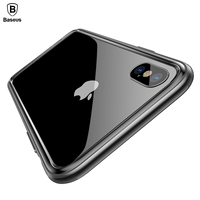 Baseus Frame Case For iPhone X Shockproof Bumper Cover Case For iPhone 10 Hard PC & Soft TPU Protection Border Capa Phone Pouch