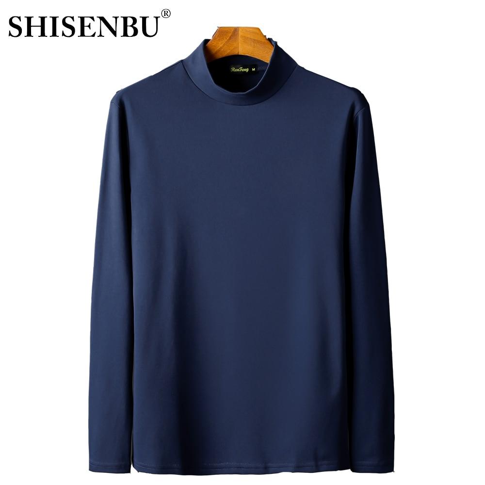 Male Underwear Shirt High Neck Winter Bodysuit Mens Warm Clothes Thermal Undershirts Thick Basic Tops Cotton Undershirt Tshirt (1)