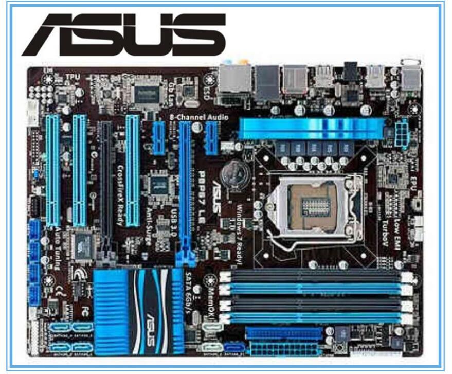 ASUS P8P67 LE Original Motherboard  DDR3 LGA 1155 Boards 32GB  USB2,0 USB3.0 SATA3.0 Used PC Desktop Motherboard