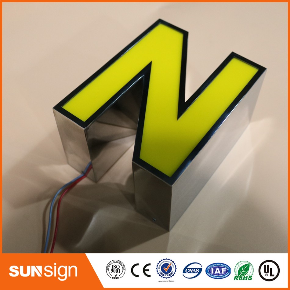 2016 New Product Advertising Stainless Steel Led Letters