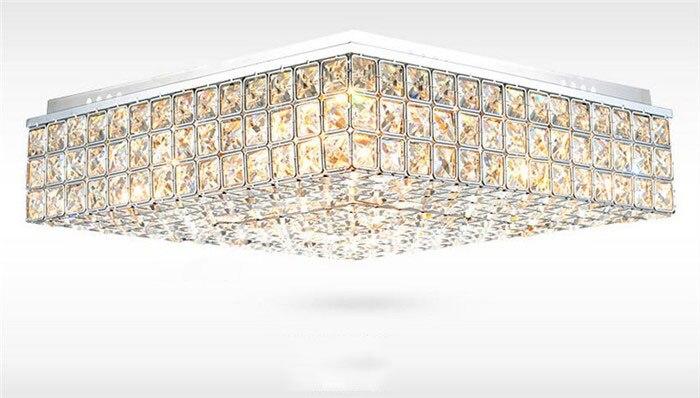 moderne kreative mode k9 kristall quadrat deckenaufbauleuchten wohnzimmer esszimmer schlafzimmer luminaria teto lampen in moderne kreative mode k9 kristall - Moderne Kreative Esszimmer