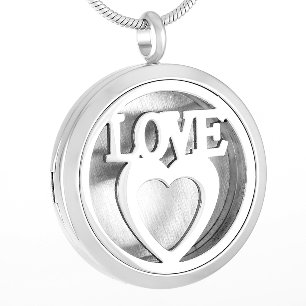 Love in my Heart Perfume Pendant Memorial Air Freshener Locket Stainless steel Essential Oil Diffuser Gift for Aromathrathpy Hol