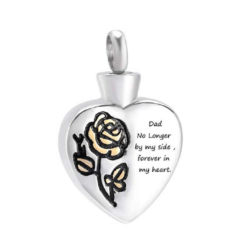 Ijd12 My Dad Grandma Grandpa Mom Son Daughter Sister Brother Heart Cremation Jewelry Urn Pendant Keepsake Urn Necklace For Ashes Chain Necklaces Aliexpress
