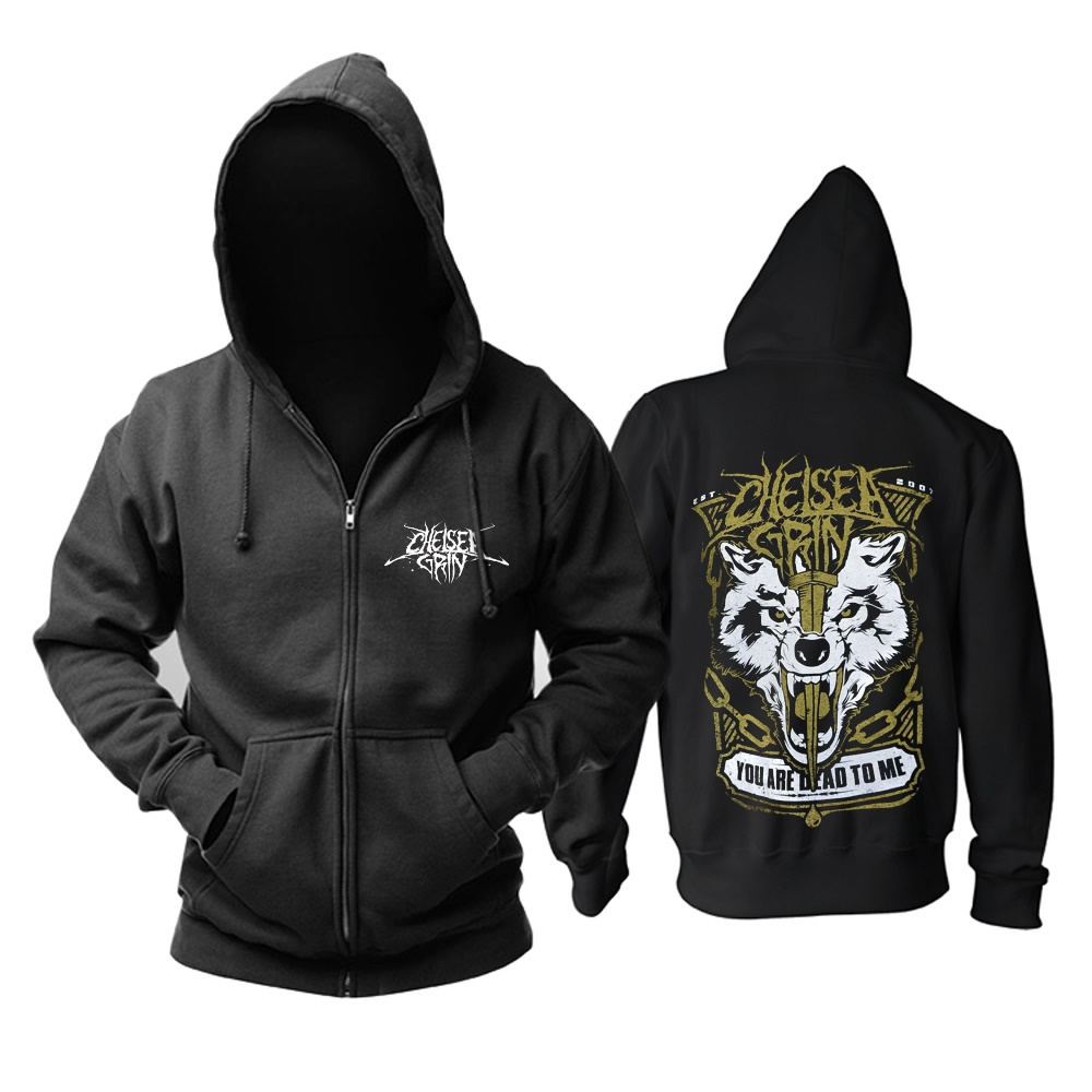 11 designs Reißverschluss Sweatshirt Chelsea Grinsen Rock Baumwolle wolf hoodies shell jacke marke punk tod heavy metal sudadera fleece-in Hoodies & Sweatshirts aus Herrenbekleidung bei  Gruppe 1