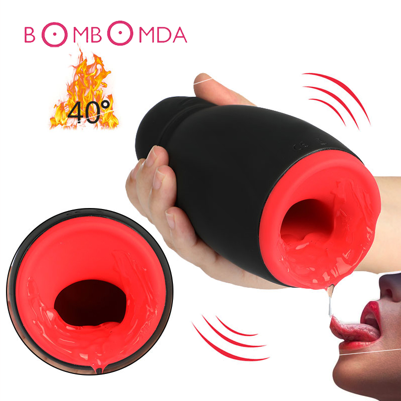 Intelligent Heating Masturbator Cup Electric Lick Suck Automatic Oral Sex Machine Artificial Vagina Pussy Adult Sex Toys For Men цена 2017