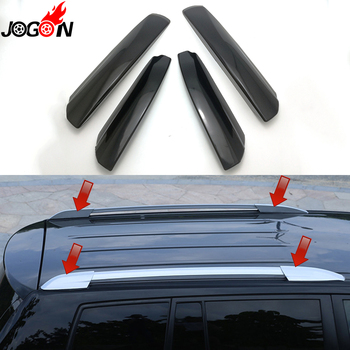 4PCS For Toyota Highlander XU40 2008 2009 2010 2011 2012 2013 Silver & Black Roof Rack Bar Rail End Replacement Cover Shell
