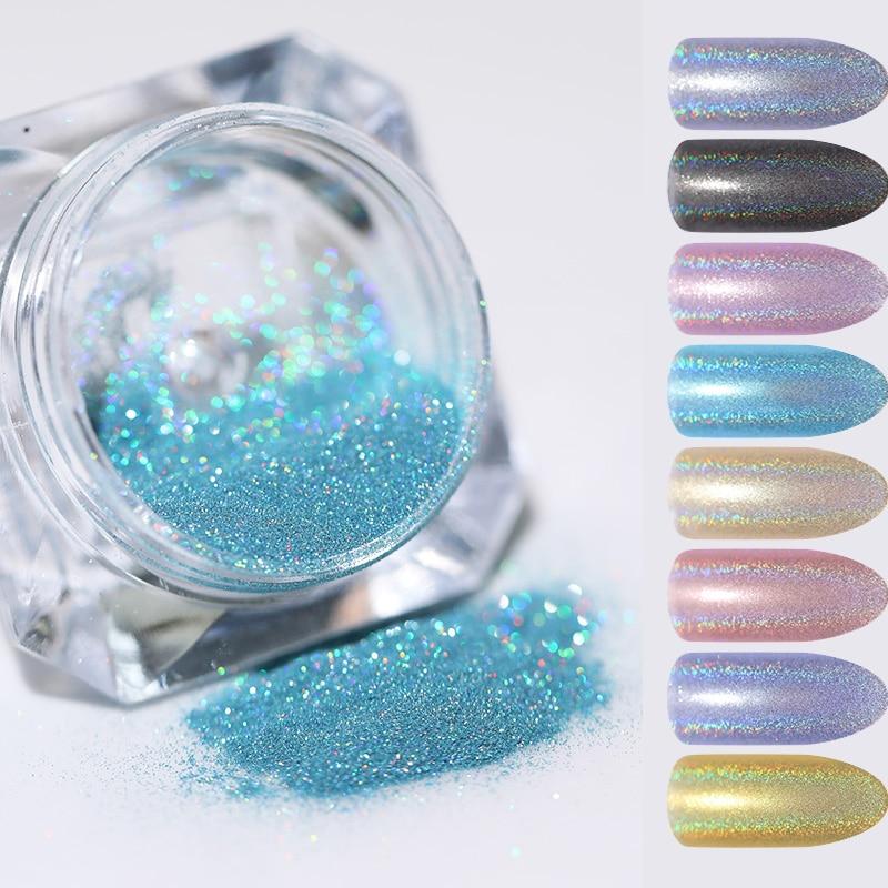 cc4bfd4a05 1 Box Mirror Glitter Nail Powder Sequins Chameleon Laser Paillette ...