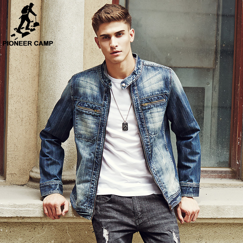 Buy Pioneer Camp 2017 New Arrival Denim Jacket Men Fashion Brand Clothing Jeans