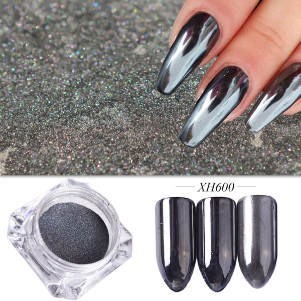 Зеркальный лак для ногтей, порошковая голографическая металлическая розовые, золотые, серебряные пылезащитные блестки, УФ-гель для ногтей, хромированное пигментное украшение CHC/ASX - Цвет: XH600