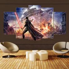 Painting Wall Art Canvas HD Print For Room Home Decor Picture 5 Piece Science Fiction Cartoon Movie Star Wars