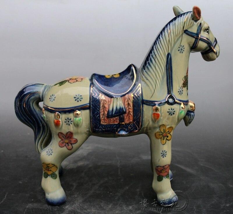 Ceramic Pottery Horse Decoration porcelain crafts Home Furnishing living room decor Antique collection