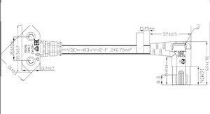 Image 5 - 3m rysunek 8 C7 w celu uzyskania zasilanie prądem zmiennym przewód ue Euro rodzaj pod kątem 90 stopni dla samsung sony sharp telewizor led 300cm biały