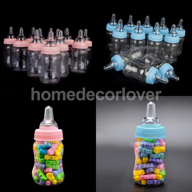12x Milk Bottles Girl Boy Baby Shower Christening Favors Candy Box Party  Decor