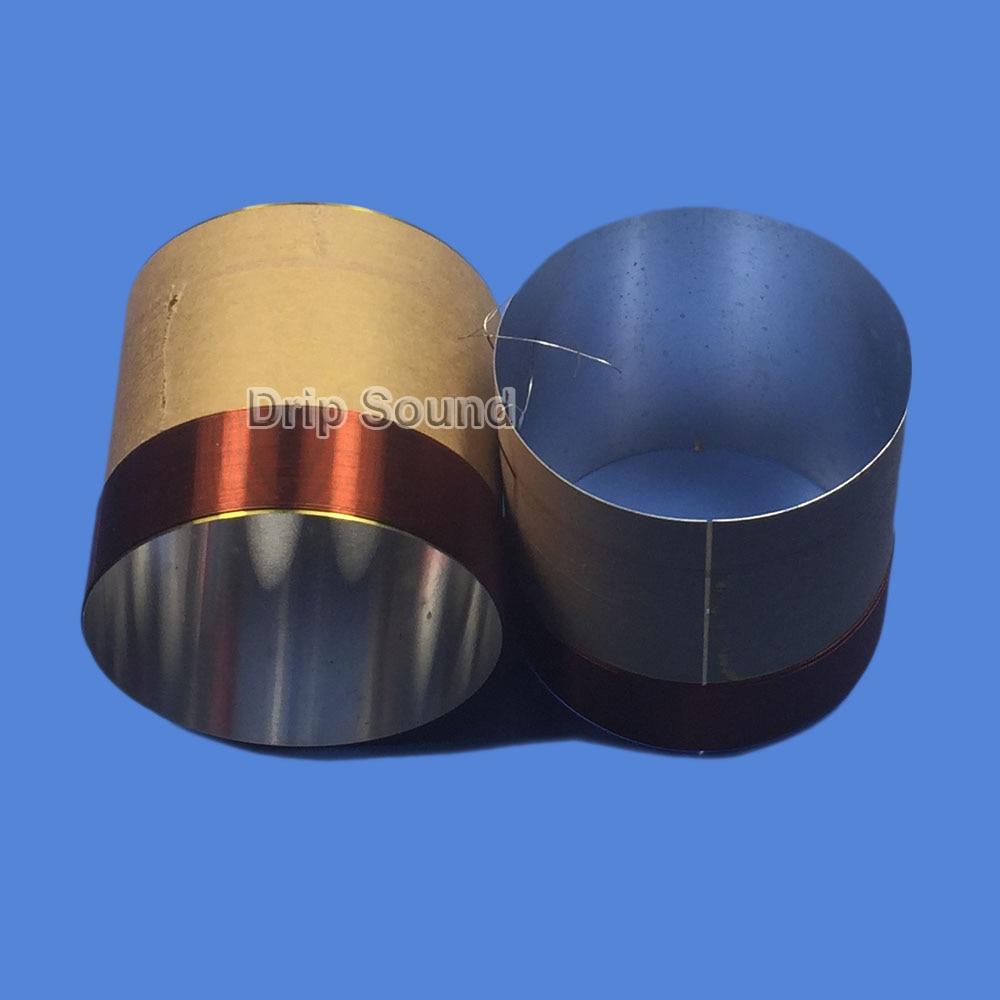 2pcs 61mm 61 Core 8ohm Bass Voice Coil ASV White Aluminium Woofer Sound Drive Speaker Repair Parts
