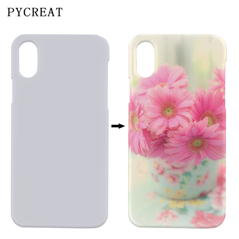 DIY Sublimation 3D Case For iPhone X XS Blank Printed Heat Transfer Cover Sublimation Case For iPhoneXS Phone Cover Coque Fundas