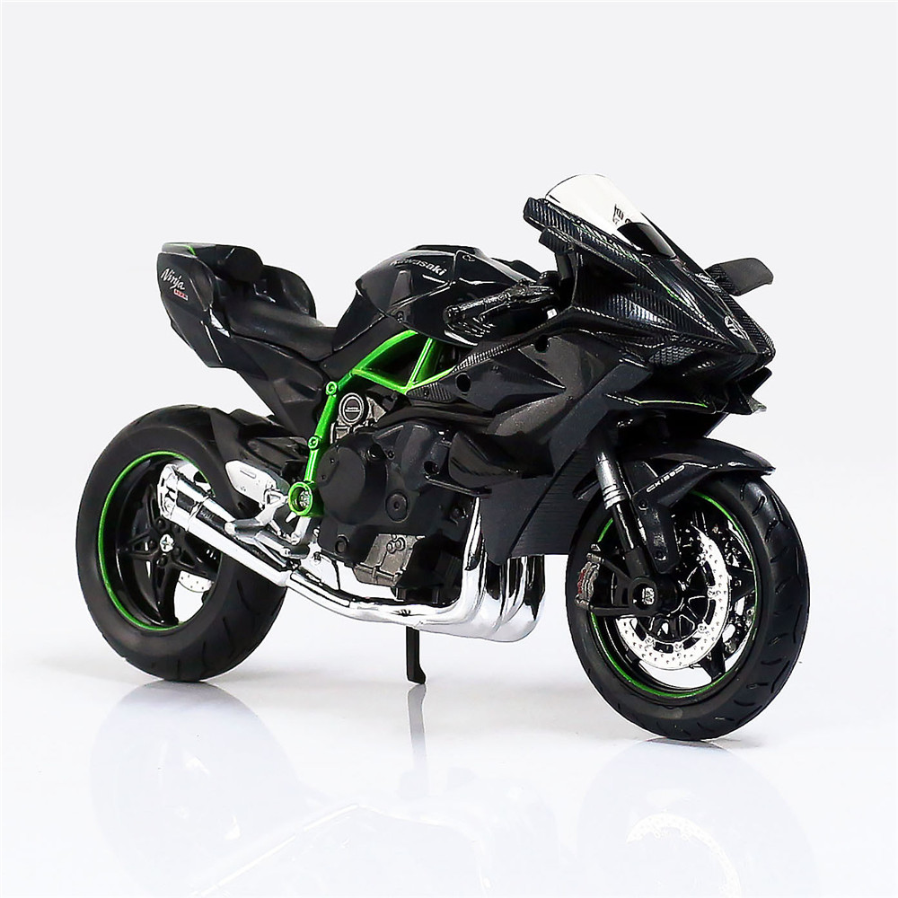 Maisto 1:12 Kawasaki H2R Metal Diecast Mini Moto Race Cars Collectible Miniature Boys Kids Toys Models of Motorcycle