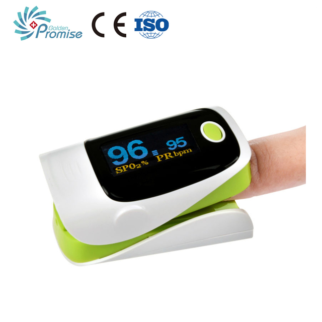 Digital Fingertip Oximeter Portable Blood Analyzer Blood Oxygen Monitor With Oled Screen Protection Bag