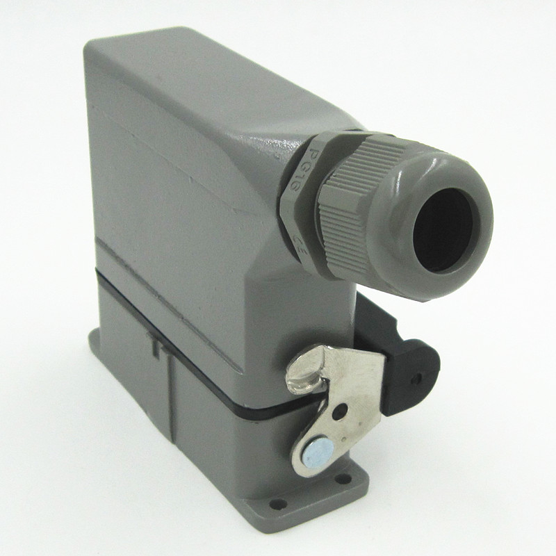 HDC-HA-016-1 Heavy Load Connector 16 Core 16A Rectangle Connector Heat Flux Avenue Plug heavy duty connectors hdc he 024 1 f m 24pin industrial rectangular aviation connector plug 16a 500v