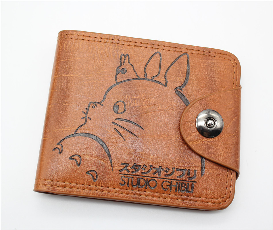 anime My Neighbor Totoro wallet cosplay billfold students personality short cartoon fashion purse woman man wallet new fashion cartoon anime student purse chopper totoro naruto conan edgar attack on titan cool brown billfold