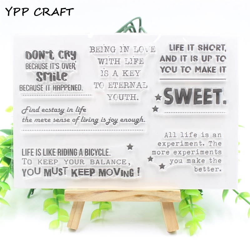 YPP CRAFT Sweet Transparent Clear Silicone Stamp/Seal for DIY scrapbooking/photo album Decorative clear stamp about lovely baby design transparent clear silicone stamp seal for diy scrapbooking photo album clear stamp paper craft cl 052