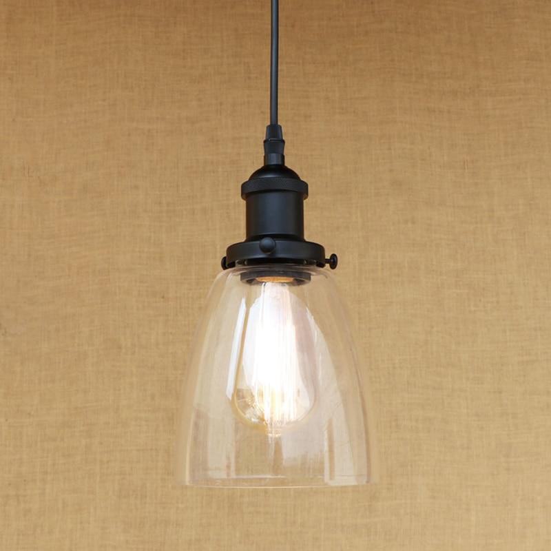 Modern E27 3 shapes clean glass shade pendant lamp LED Edison bulb Pendant Light Fixture For Kitchen Lights/dining room/bar 220V