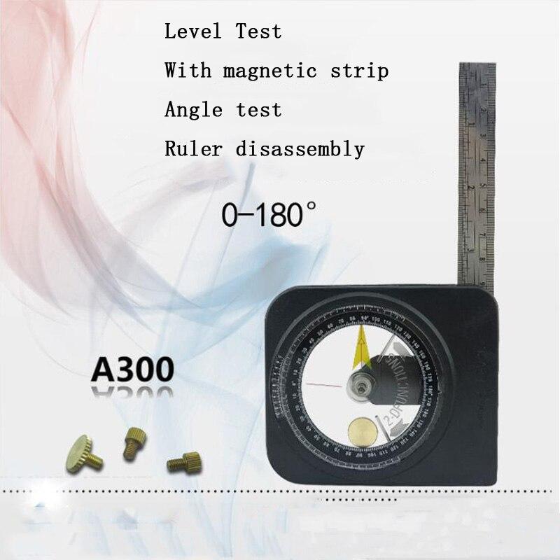 180 Graden Horizontale Hoek Heerser Hoek Dubbelzijdig Schaal Hoek Meter Magnetische Niveaumeter Disc Hoek Meter Hot Sale 50-70% Korting
