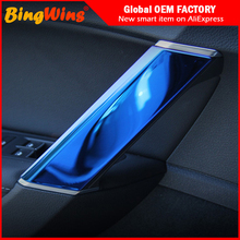 цена на For Volkswagen VW Golf 7 MK7 MK7.5 GTI TSI GTE R-line 2014-2018 stainless steel Interior door handle Cover Sticker trim Sequins