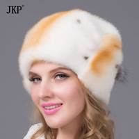Good genuine mink fur hat fur hat Russian imports of all female Winter new fashion women hat luxury quality hot sale DHY 58