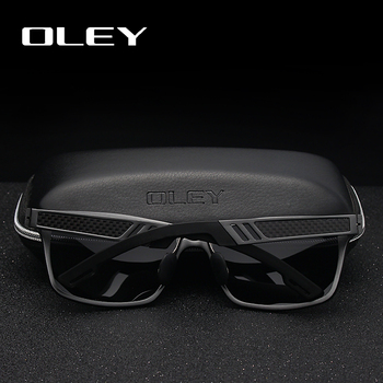 OLEY Men Polarized Sunglasses Aluminum Magnesium Sun Glasses Driving Glasses Rectangle For Men/Wome Oculos masculino Male 1