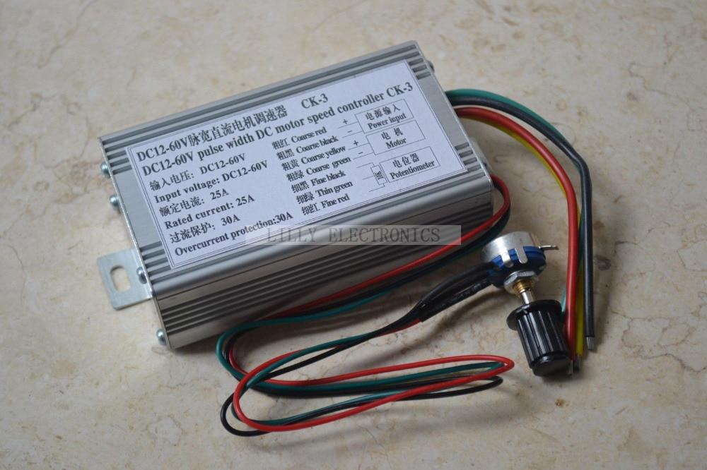 ФОТО CK-3 PWM High Power DC Speed Controller 12V-60V 25A 1000W