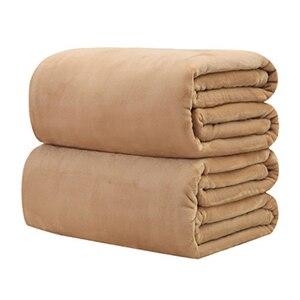Image 5 - CAMMITEVER, 10 Colros muy cálidas, suaves textiles para el hogar, de Color sólido manta de franela, mantas, cubrecamas, sábanas