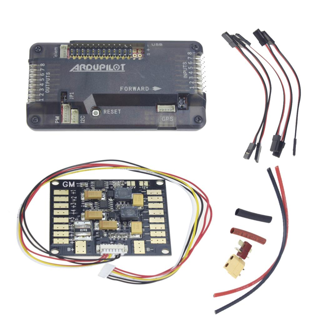 все цены на  F14586-B APM 2.8 APM2.8 RC Multicopter Flight Controller Board Compass & ESC Power Distribution Module BEC for FPV RC Drone +FS  онлайн