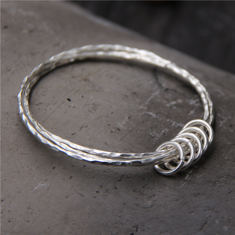ChiangMai Thailand handmade silver bracelet S925 pure silver Bangle For Women Thai silver bracelet new limited edition classic elegant s925 silver pure thai silver bracelet watches thailand process rhinestone bangle dresswatch