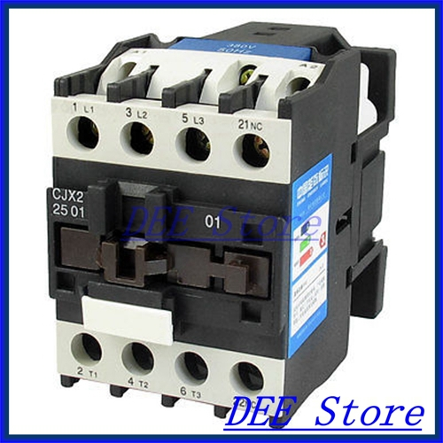 660V 40A 3 Phase 3P NC AC Contactor 35mm DIN Rail Mount 380V Coil CJX2-2501