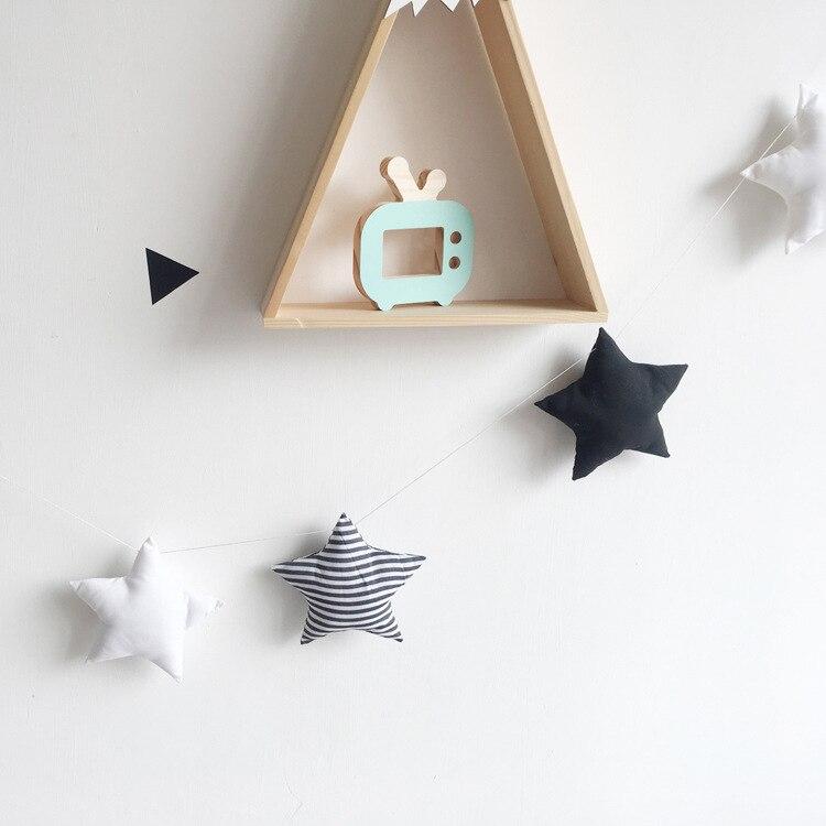 New Nordic Baby Room Handmade Nursery Star Garlands Christmas Kids Room Wall Decorations Photography Props Best Gifts dřevěné dekorace do dětského pokoje