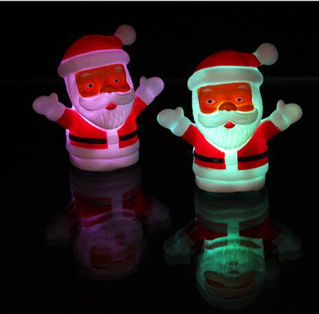 Santa Claus Colorful Christmans Decoration Flashing Father Christmas Kids Xmas Gifts Snowman Mini Led Table Lights Children Toy
