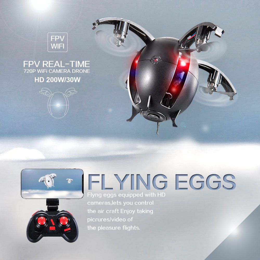 Flying Egg Helicopter WIFI Connection Mini Flying Egg Quadcopter 3D Flip Aerial Video 668-A6HW Wireless Control Flying Egg Drone flying 3d fy x8 018 flying control unit for fy x8 quadcopter