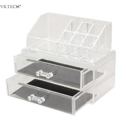 Portable Makeup Organizer Acrylic Transparent Storage Box Make Up Organizer Case Box Cosmetic Organizer Makeup Storage Drawers