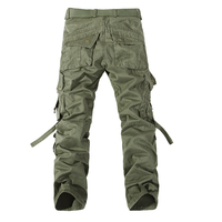 2017 Men's Cargo Pants Casual Army Green Big Pockets Pants Military Overall Male Outdoors High Quality Long Trousers 28-42 Plus 3