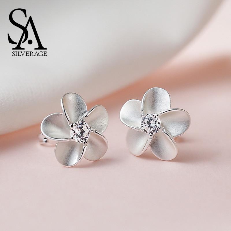 SILVERAGE 925 Sterling Sølv Smykker For Kvinner Blomster Innlagt - Fine smykker - Bilde 1