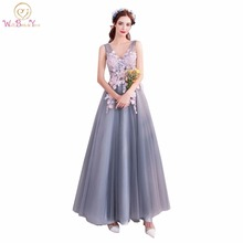 Walk Beside You Gray Bridesmaid Dresses with Pink Lace Appli